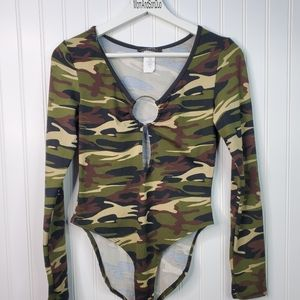 Discovery Camouflage Print Long Sleeve Bodysuit